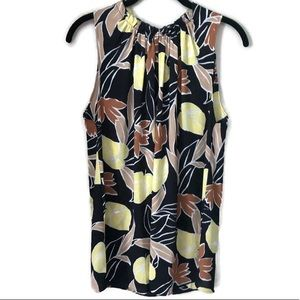Ann Taylor Floral Patterned Sleeveless scoop Top